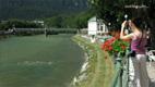 Sophiens Esplanade und Blick auf die Traun - Screenshot HD-Video Bad Ischl