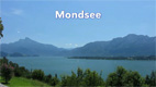View over Mondsee with Schafberg and Drachenwand - Screenshot HD-Video Mondsee