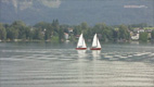 Sailing on lake Mondsee - Screenshot HD-Video Mondsee