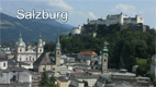 Prospect over the city of Salzburg to Fortress Hohensalzburg - Screenshot HD-Video Salzburg City Centre
