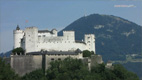 Fortress Hohensalzburg viewed from the Richterhöhe - Screenshot HD-Video Salzburg City Centre
